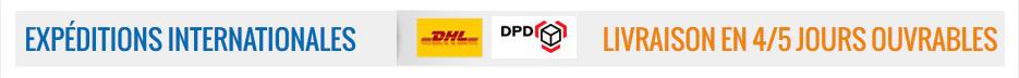 Livraison express (DHL ou DPD) - Livraison internationale en 4/5 jours;